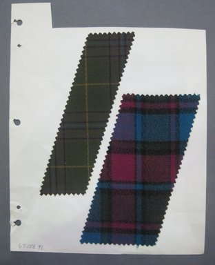 Fab-Tex Inc.. <em>Fabric Swatch</em>, 1963-1966. Cotton, sheet: 8 1/4 x 10 1/2 in. (21 x 26.7 cm). Brooklyn Museum, Gift of Fab-Tex Inc., 67.158.91 (Photo: Brooklyn Museum, CUR.67.158.91.jpg)