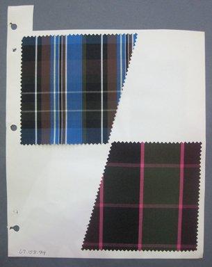 Fab-Tex Inc.. <em>Fabric Swatch</em>, 1963-1966. Silk, sheet: 8 1/4 x 10 1/2 in. (21 x 26.7 cm). Brooklyn Museum, Gift of Fab-Tex Inc., 67.158.94 (Photo: Brooklyn Museum, CUR.67.158.94.jpg)