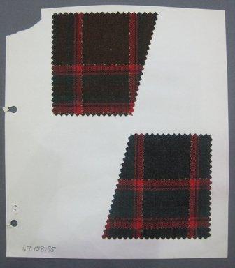 Fab-Tex Inc.. <em>Fabric Swatch</em>, 1963-1966. Wool, sheet: 8 1/4 x 9 1/2 in. (21 x 24.1 cm). Brooklyn Museum, Gift of Fab-Tex Inc., 67.158.95 (Photo: Brooklyn Museum, CUR.67.158.95.jpg)