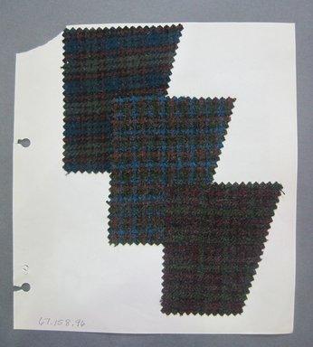 Fab-Tex Inc.. <em>Fabric Swatch</em>, 1963-1966. Wool, sheet: 8 1/4 x 9 in. (21 x 22.9 cm). Brooklyn Museum, Gift of Fab-Tex Inc., 67.158.96 (Photo: Brooklyn Museum, CUR.67.158.96.jpg)