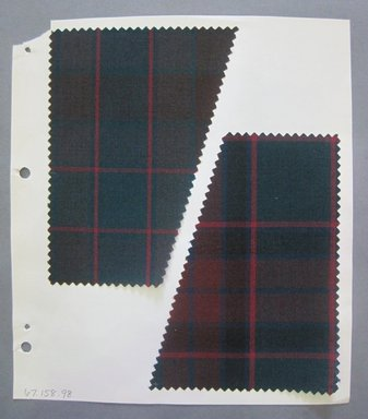 Fab-Tex Inc.. <em>Fabric Swatch</em>, 1963-1966. Cotton or cotton-synthetic blend, sheet: 8 1/4 x 10 1/2 in. (21 x 26.7 cm). Brooklyn Museum, Gift of Fab-Tex Inc., 67.158.98 (Photo: Brooklyn Museum, CUR.67.158.98.jpg)