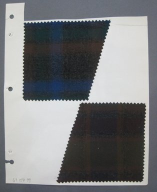 Fab-Tex Inc.. <em>Fabric Swatch</em>, 1963-1966. Wool, sheet: 8 1/2 x 10 1/2 in. (21.6 x 26.7 cm). Brooklyn Museum, Gift of Fab-Tex Inc., 67.158.99 (Photo: Brooklyn Museum, CUR.67.158.99.jpg)