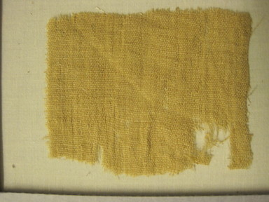 <em>Textile</em>. Camelid fiber, 2 3/4 × 3 1/2 in. (7 × 8.9 cm). Brooklyn Museum, Gift of Adelaide Goan, 67.159.34. Creative Commons-BY (Photo: , CUR.67.159.34.jpg)
