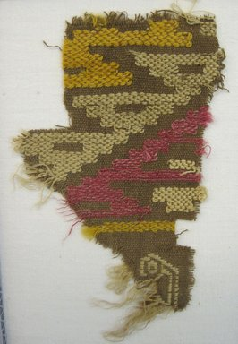 Chancay. <em>Textile Fragment, undetermined</em>, 1000-1532. Cotton, camelid fiber, 4 1/2 × 3 in. (11.5 × 7.6 cm). Brooklyn Museum, Gift of Adelaide Goan, 67.159.4. Creative Commons-BY (Photo: Brooklyn Museum, CUR.67.159.4.jpg)