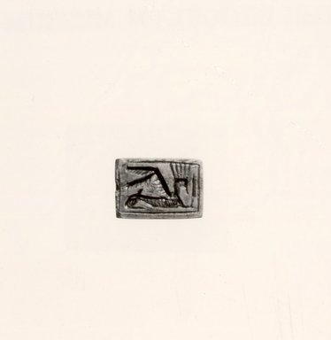 <em>Seal</em>. Steatite Brooklyn Museum, Gift of Roger Khawam, 67.173. Creative Commons-BY (Photo: Brooklyn Museum, CUR.67.173_negA_bw.jpg)