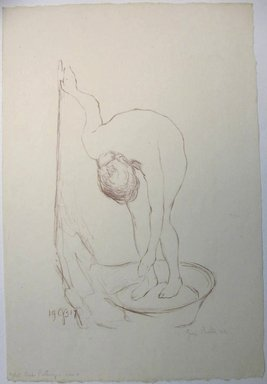 George Biddle (American, 1885-1973). <em>Nude Bathing</em>, 1917. Lithograph, 13 1/2 x 8 1/2 in. (34.3 x 21.6 cm). Brooklyn Museum, Gift of George Biddle, 67.185.2. © artist or artist's estate (Photo: Brooklyn Museum, CUR.67.185.2.jpg)