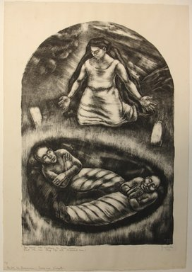 George Biddle (American, 1885-1973). <em>In Memoriam: Sacco & Vanzetti</em>, 1930. Lithograph, 19 x 13 in. (48.3 x 33 cm). Brooklyn Museum, Gift of George Biddle, 67.185.23. © artist or artist's estate (Photo: Brooklyn Museum, CUR.67.185.23.jpg)