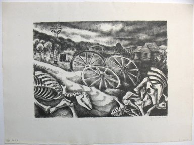 George Biddle (American, 1885-1973). <em>Sand!</em>, 1936. Lithograph, 10 x 13 7/8 in. (25.4 x 35.2 cm). Brooklyn Museum, Gift of George Biddle, 67.185.30. © artist or artist's estate (Photo: Brooklyn Museum, CUR.67.185.30.jpg)