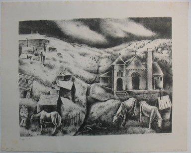 George Biddle (American, 1885-1973). <em>Cripple Creek</em>, 1936. Lithograph, 12 1/4 x 16 1/4 in. (31.1 x 41.3 cm). Brooklyn Museum, Gift of George Biddle, 67.185.31. © artist or artist's estate (Photo: Brooklyn Museum, CUR.67.185.31.jpg)