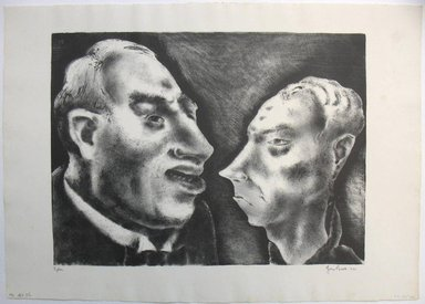 George Biddle (American, 1885-1973). <em>Spleen</em>, 1937. Lithograph, 11 x 14 3/4 in. (27.9 x 37.5 cm). Brooklyn Museum, Gift of George Biddle, 67.185.32. © artist or artist's estate (Photo: Brooklyn Museum, CUR.67.185.32.jpg)