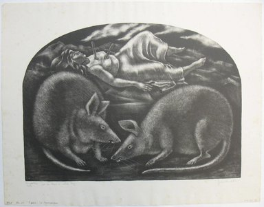 George Biddle (American, 1885-1973). <em>Spain: In Memoriam</em>, 1937. Lithograph, 11 7/8 x 16 5/8 in. (30.2 x 42.2 cm). Brooklyn Museum, Gift of George Biddle, 67.185.38. © artist or artist's estate (Photo: Brooklyn Museum, CUR.67.185.38.jpg)