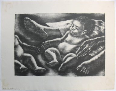 George Biddle (American, 1885-1973). <em>The Awakening</em>, 1955. Lithograph, 12 x 17 1/4 in. (30.5 x 43.8 cm). Brooklyn Museum, Gift of George Biddle, 67.185.65. © artist or artist's estate (Photo: Brooklyn Museum, CUR.67.185.65.jpg)