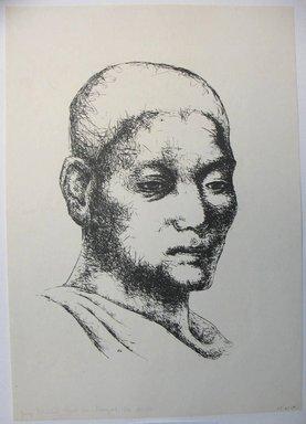 George Biddle (American, 1885-1973). <em>Young Buddhist Priest From Bangkok</em>. Lithograph, 14 3/8 x 9 3/4 in. (36.5 x 24.8 cm). Brooklyn Museum, Gift of George Biddle, 67.185.69. © artist or artist's estate (Photo: Brooklyn Museum, CUR.67.185.69.jpg)