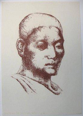 George Biddle (American, 1885-1973). <em>Young Buddhist Priest From Bangkok</em>. Lithograph, 14 3/8 x 9 3/4 in. (36.5 x 24.8 cm). Brooklyn Museum, Gift of George Biddle, 67.185.70. © artist or artist's estate (Photo: Brooklyn Museum, CUR.67.185.70.jpg)