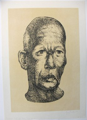 George Biddle (American, 1885-1973). <em>Buddhist Priest From Ceylon</em>, 1959. Lithograph, 17 1/8 x 11 5/8 in. (43.5 x 29.5 cm). Brooklyn Museum, Gift of George Biddle, 67.185.71. © artist or artist's estate (Photo: Brooklyn Museum, CUR.67.185.71.jpg)