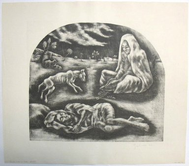 George Biddle (American, 1885-1973). <em>This too, I Saw In India</em>, 1959. Lithograph Brooklyn Museum, Gift of George Biddle, 67.185.79. © artist or artist's estate (Photo: Brooklyn Museum, CUR.67.185.79.jpg)