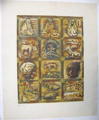 George Biddle (American, 1885-1973). <em>?---India</em>, 1959. Lithograph, 16 3/4 x 12 7/8 in. (42.5 x 32.7 cm). Brooklyn Museum, Gift of George Biddle, 67.185.80. © artist or artist's estate (Photo: Brooklyn Museum, CUR.67.185.80.jpg)