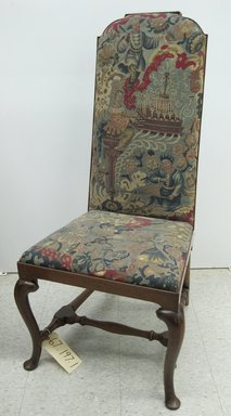 Unknown. <em>Side Chair - One of a Set of Eight</em>, ca. 1710. Walnut, beech, needlework, 43 1/2 x 20 3/4 x 24 in. (110.5 x 52.7 x 61 cm). Brooklyn Museum, Gift of Mrs. H. A. Metzger, 67.197.1. Creative Commons-BY (Photo: Brooklyn Museum, CUR.67.197.1.jpg)