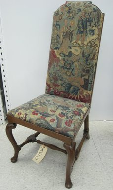 Unknown. <em>Side Chair - One of a Set of Eight</em>, ca. 1710. Walnut, beech, needlework, 43 1/2 x 20 3/4 x 24 in. (110.5 x 52.7 x 61 cm). Brooklyn Museum, Gift of Mrs. H. A. Metzger, 67.197.4. Creative Commons-BY (Photo: Brooklyn Museum, CUR.67.197.4.jpg)
