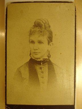 American. <em>[Mrs. Sarah Kinney King]</em>, n.d. Photograph, 4 1/8 x 2 3/8 in. (10.5 x 6 cm). Brooklyn Museum, Gift of Margaret King Eddy, 68.127.5b (Photo: Brooklyn Museum, CUR.68.127.5b.jpg)