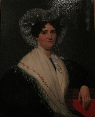 William Sidney Mount (American, 1807-1868). <em>Mrs. Geromus Johnson</em>, 1832. Oil on canvas, 34 x 26 15/16 in. (86.4 x 68.4 cm). Brooklyn Museum, Dick S. Ramsay Fund and Healy Purchase Fund B, 68.213.2 (Photo: , CUR.68.213.2.jpg)