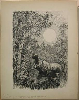 "Reginald Birch (American, born London, England, 1856-1943). <em>Chapter I ""The Animal Village"" by Charles E. Lord ""But I Hava a Bad Tooth Ache...,""</em> 1940. Black ink and touches of white correction fluid on heavy wove paper, Sheet: 22 1/16 x 17 3/16 in. (56 x 43.7 cm). Brooklyn Museum, Gift of William G. Lord, 68.225.3 (Photo: Brooklyn Museum, CUR.68.225.3.jpg)"
