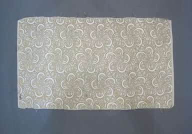 <em>Textile Swatch</em>, 1950s to 1960s. Cotton, metallic thread, 20 x 11 3/4 in. (50.8 x 29.8 cm). Brooklyn Museum, Gift of Mrs. Robert G. Olmsted and Constable MacCracken, 69.149.80.85 (Photo: Brooklyn Museum, CUR.69.149.80.85.jpg)