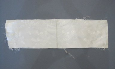 <em>Textile Swatch</em>, 1950s to 1960s. Silk, 16 3/4 x 4 1/4 in. (42.5 x 10.8 cm). Brooklyn Museum, Gift of Mrs. Robert G. Olmsted and Constable MacCracken, 69.149.80.88 (Photo: Brooklyn Museum, CUR.69.149.80.88.jpg)