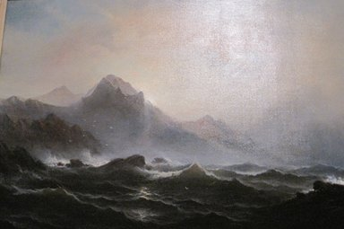 James Hamilton (American, 1819-1878). <em>Seascape</em>, ca. 1865. Oil on canvas, 29 15/16 x 45 in. (76.1 x 114.3 cm). Brooklyn Museum, Dick S. Ramsay Fund, 70.103 (Photo: Brooklyn Museum, CUR.70.103.jpg)