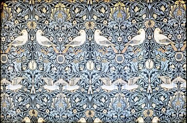 William Morris (English, 1834-1896). <em>Window Hanging, One of Pair</em>, Designed 1878. Hand-dyed woolen yarns, a: 61 × 71 in. (154.9 × 180.3 cm). Brooklyn Museum, H. Randolph Lever Fund, 70.139a. Creative Commons-BY (Photo: Brooklyn Museum, CUR.70.139a-b.jpg)