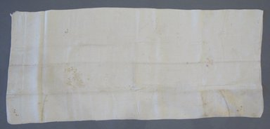 American. <em>Pillow Slip</em>, early 19th century. Linen, 36 x 15 1/2 in. (91.4 x 39.4 cm). Brooklyn Museum, Gift of Theodora Briggs, 70.163.7. Creative Commons-BY (Photo: Brooklyn Museum, CUR.70.163.7.jpg)