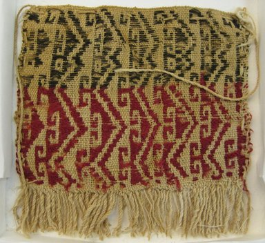 Coastal Wari. <em>Bag</em>, 600-1400. Cotton, camelid fiber, 5 1/8 x 5 1/8 in. (13 x 13 cm). Brooklyn Museum, Gift of Ernest Erickson, 70.177.47. Creative Commons-BY (Photo: Brooklyn Museum, CUR.70.177.47.jpg)