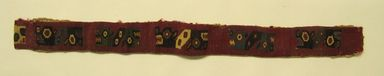Coastal Wari (attrib by Nobuko Kajatani, 1993). <em>Headband</em>, 600-1000 C.E. Cotton, camelid fiber, 1 3/4 × 20 1/2 in. (4.4 × 52.1 cm). Brooklyn Museum, Gift of Ernest Erickson, 70.177.50. Creative Commons-BY (Photo: , CUR.70.177.50.jpg)