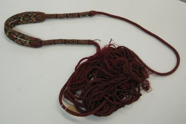 Inca (attrib by Nobuko Kajatani, 1993). <em>Sling</em>, 1000-1532. Cotton, camelid fiber, 103 1/8 x 1 9/16in. (262 x 4cm). Brooklyn Museum, Gift of Ernest Erickson, 70.177.59. Creative Commons-BY (Photo: Brooklyn Museum, CUR.70.177.59_view2.jpg)