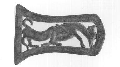 <em>Axeblade</em>. Bronze, 3 3/8 x 3/16 x 5 1/16 in. (8.6 x 0.5 x 12.8 cm). Brooklyn Museum, Gift of Mrs. K. Hartmann, 70.87.2. Creative Commons-BY (Photo: Brooklyn Museum, CUR.70.87.2_print_negA_bw.jpg)