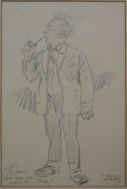 Tony Sarg (American, 1880-1942). <em>Puppeteer</em>, 1931. Colored pencil and graphite on paper mounted in mat, Image (sight): 12 x 9 in. (30.5 x 22.9 cm). Brooklyn Museum, Bequest of Julian Clarence Levi, 71.206.2 (Photo: Brooklyn Museum, CUR.71.206.2.jpg)