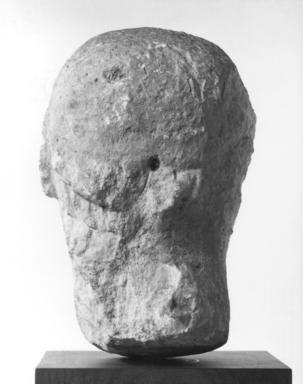 Syrian. <em>Head of a Priest</em>, 2nd century C.E. Limestone, 12 5/8 x 8 1/4 x 11 in. (32 x 21 x 28 cm). Brooklyn Museum, Gift of Mr. and Mrs. Carl L. Selden, 71.36. Creative Commons-BY (Photo: Brooklyn Museum, CUR.71.36_NegD_print_bw.jpg)