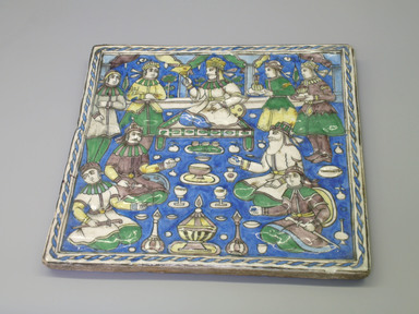 <em>Tile</em>, late 19th century. Ceramic, 11 5/8 x 13/16 x 11 1/4 in. (29.5 x 2 x 28.5 cm). Brooklyn Museum, Gift of Mr. and Mrs. Carl L. Selden, 72.132.2. Creative Commons-BY (Photo: Brooklyn Museum, CUR.72.132.2.jpg)