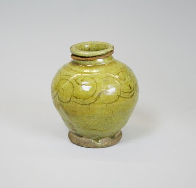 <em>Jar</em>, 11th-12th century. Ceramic, 3 5/8 x 3 1/8 in. (9.2 x 8 cm). Brooklyn Museum, Gift of Mr. and Mrs. Charles K. Wilkinson, 72.26.2. Creative Commons-BY (Photo: Brooklyn Museum, CUR.72.26.2_view2.jpg)