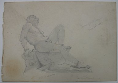 William Trost Richards (American, 1833-1905). <em>Prometheus</em>, August 28, 1855. Graphite on paper, Sheet: 4 5/16 x 6 1/8 in. (11 x 15.6 cm). Brooklyn Museum, Gift of Edith Ballinger Price, 72.32.11 (Photo: Brooklyn Museum, CUR.72.32.11.jpg)