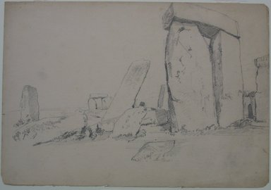 William Trost Richards (American, 1833-1905). <em>Stonehenge</em>, n.d. Graphite on paper, Sheet: 10 x 14 1/2 in. (25.4 x 36.8 cm). Brooklyn Museum, Gift of Edith Ballinger Price, 72.32.13 (Photo: Brooklyn Museum, CUR.72.32.13.jpg)