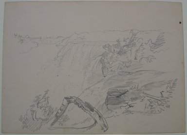 William Trost Richards (American, 1833-1905). <em>Niagara Falls</em>, n.d. Graphite on paper, Sheet: 9 3/16 x 12 1/2 in. (23.3 x 31.8 cm). Brooklyn Museum, Gift of Edith Ballinger Price, 72.32.19 (Photo: Brooklyn Museum, CUR.72.32.19.jpg)