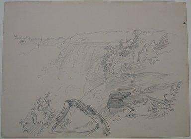 William Trost Richards (American, 1833-1905). <em>Niagara Falls</em>, n.d. Graphite on paper, Sheet: 9 3/16 x 12 1/2 in. (23.3 x 31.8 cm). Brooklyn Museum, Gift of Edith Ballinger Price, 72.32.19 (Photo: Brooklyn Museum, CUR.72.32.19.jpg)