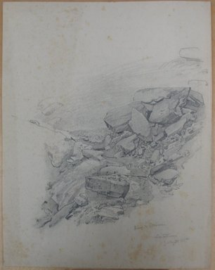 William Trost Richards (American, 1833-1905). <em>Rocks</em>, July 31, 1867. Graphite on cream paper, Sheet: 11 5/8 x 9 1/8 in. (29.5 x 23.2 cm). Brooklyn Museum, Gift of Edith Ballinger Price, 72.32.25 (Photo: Brooklyn Museum, CUR.72.32.25.jpg)