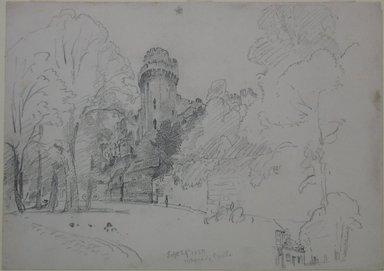 William Trost Richards (American, 1833-1905). <em>Warwick Castle</em>, September 29, 1880. Graphite on paper, Sheet: 9 15/16 x 14 in. (25.2 x 35.6 cm). Brooklyn Museum, Gift of Edith Ballinger Price, 72.32.29 (Photo: Brooklyn Museum, CUR.72.32.29.jpg)