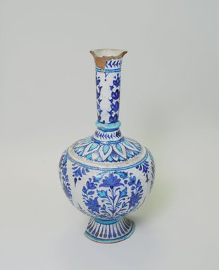 <em>Vase</em>, 19th century. Ceramic, 12 15/16 x 6 1/2 in. (32.8 x 16.5 cm). Brooklyn Museum, Gift of Alvin Devereux, 72.85.1. Creative Commons-BY (Photo: Brooklyn Museum, CUR.72.85.1_view3.jpg)