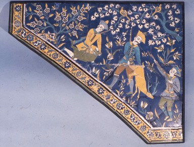 <em>Panel Depicting Hunting Scene</em>, 17th century. Ceramic tile, Box 1:. Brooklyn Museum, Gift of Mr. and Mrs. Carl L. Selden, 72.88. Creative Commons-BY (Photo: Brooklyn Museum, CUR.72.88.jpg)