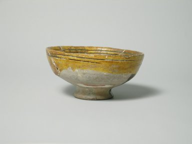 Byzantine. <em>Bowl</em>, 13th-14th century. Glazed pottery, Foot: 5/8 x 1 7/8 in. (1.6 x 4.8 cm). Brooklyn Museum, Gift of The Roebling Society, 73.30.3. Creative Commons-BY (Photo: Brooklyn Museum, CUR.73.30.3_exterior1.jpg)