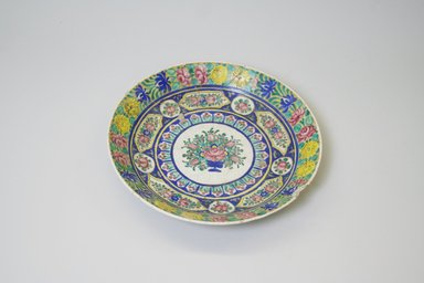 <em>Plate</em>, 19th century. Glazed enamel painted ceramic, 1 5/8 x 8 11/16 in. (4.2 x 22 cm). Brooklyn Museum, Gift of Mr. and Mrs. Charles K. Wilkinson, 74.102.1. Creative Commons-BY (Photo: Brooklyn Museum, CUR.74.102.1.jpg)