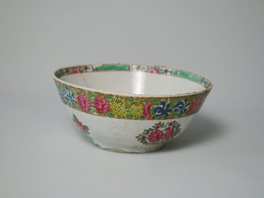 <em>Bowl</em>, 19th century. Ceramic, 3 5/8 x 8 1/16 in. (9.2 x 20.5 cm). Brooklyn Museum, Gift of Mr. and Mrs. Charles K. Wilkinson, 74.102.3. Creative Commons-BY (Photo: Brooklyn Museum, CUR.74.102.3_exterior1.jpg)